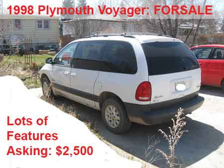 FOR SALE: 1998 Plymouth Voyager Mini Van: White - PIC 2