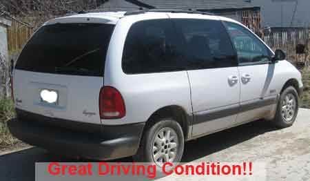 FOR SALE: 1998 Plymouth Voyager Mini Van: White - PIC 3