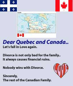 Canada - Quebec. Don't Separate!